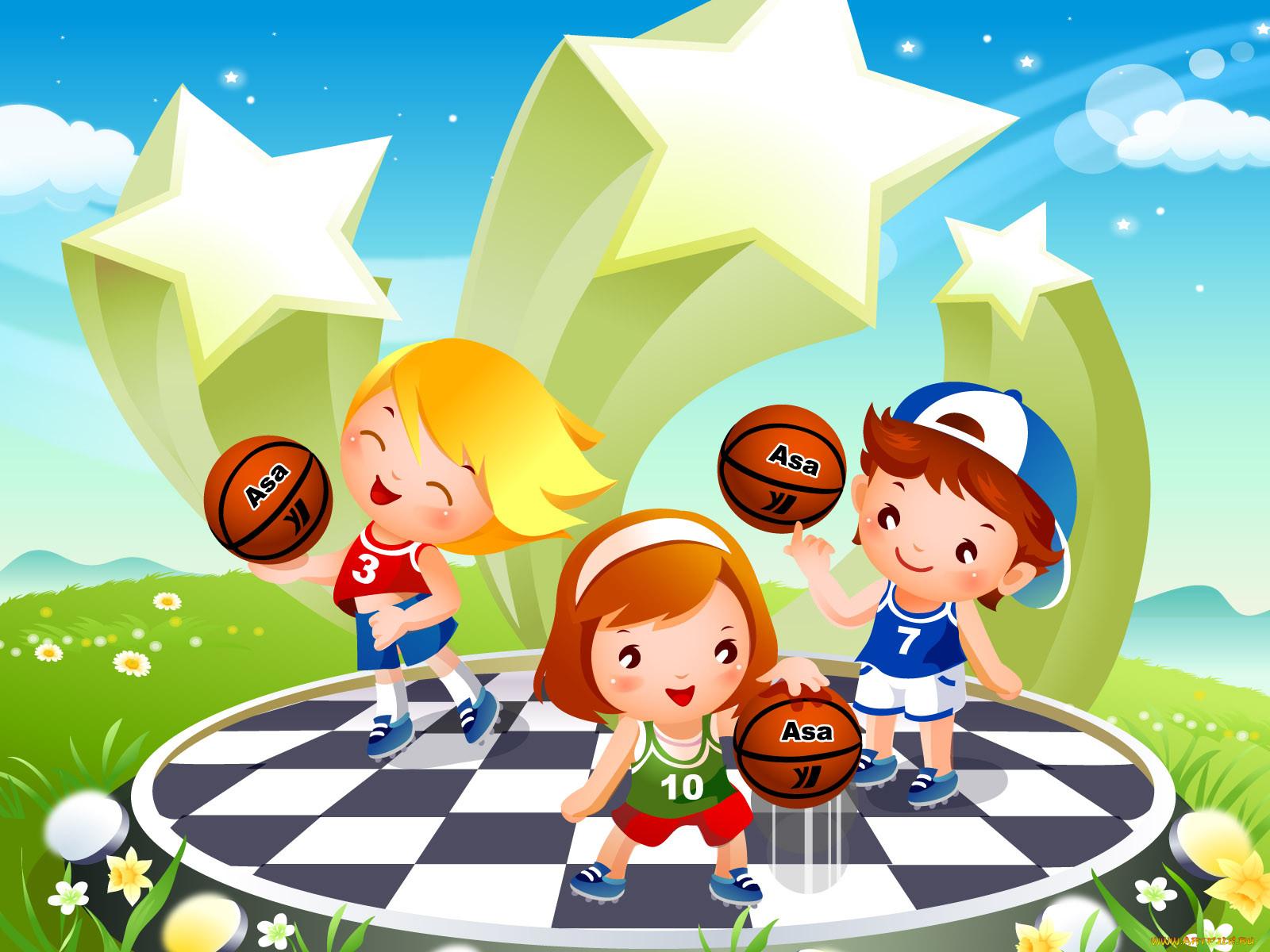 Спортивные детские картинки лето